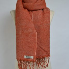 Burnt Orange Red Yak Wool