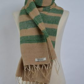 Stripy Green Beige